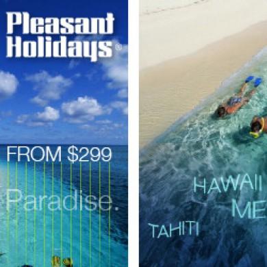 Pleasant Holidays Paradise Ad